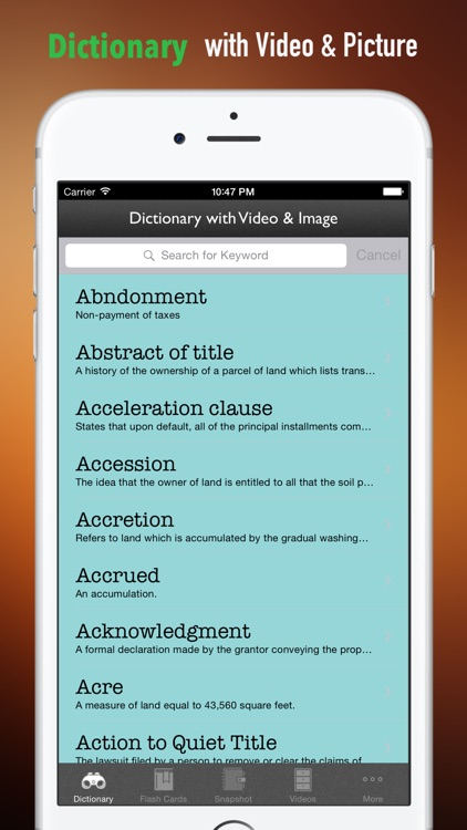 Real Estate Exam Study Guide: Test Prep Courses with Glossary Flashcards screenshot-3