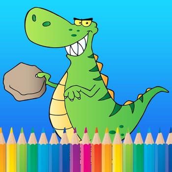 Dinosaur Coloring Book for Kids Free HD - All Pages Coloring and Painting Book Games