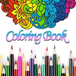 FREE Adult Coloring Book - Color Therapy Page for Anti-Stress Relief