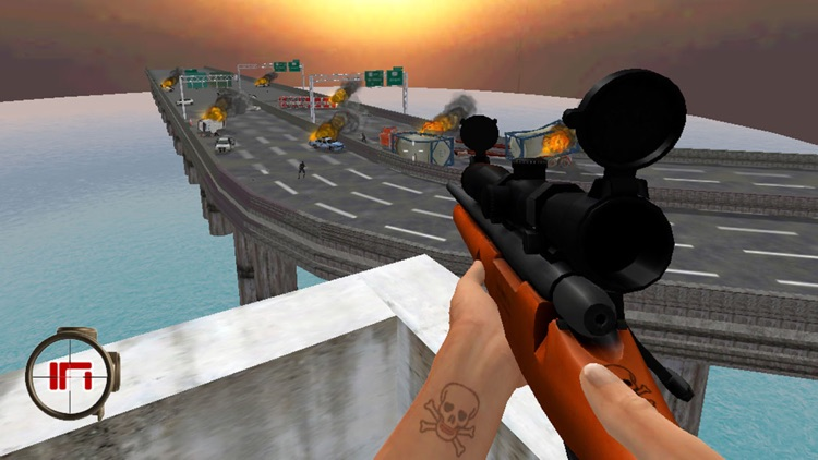 A Zombie Sniper - Highway War Free screenshot-1