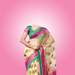 Designer Saree -Latest and new photo montage with own photo or camera