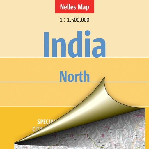 India: North. Tourist map.