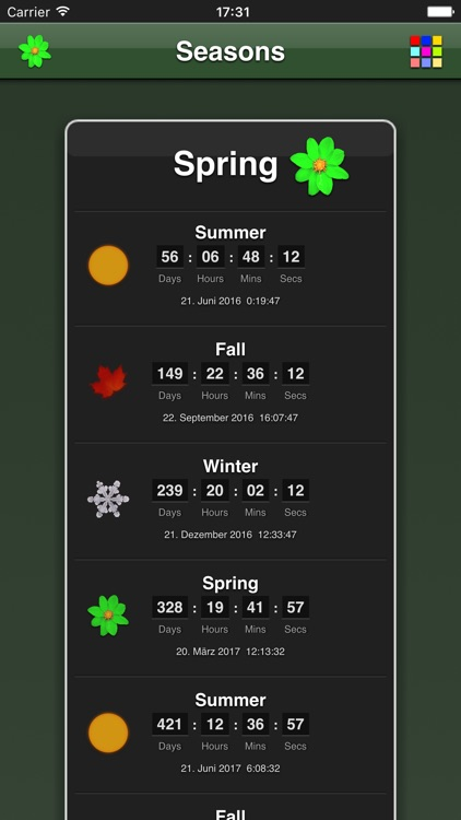Seasons App screenshot-0