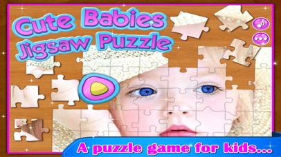 Super Cute Babies - Kids Jigsaw Puzzle screenshot one