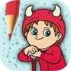 图画书连接点然后用魔法标记 - 涂色儿童画画书(3-6岁宝宝早教益智软件)