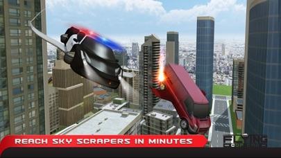 フライングコップカーシミュレーター3D - エクストリーム刑事警察車運転と飛行機のフライトパイロットシミュレータのおすすめ画像3