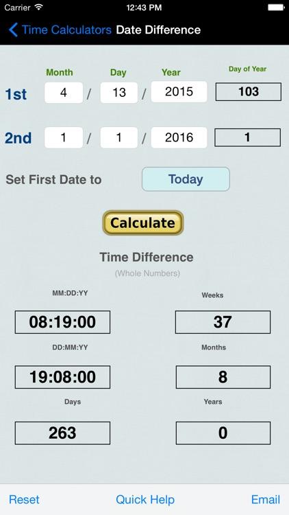 Time Calculator+ screenshot-3