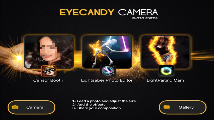 EYE CANDY CAMERA - Magic Photo Editor , Eyecandy Cam Filters & Lens Effects Fx