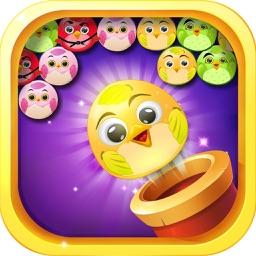 Yellow Bird Pop - Bubble Shooter Cross Finger Adventure