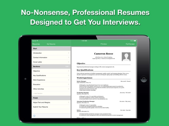 Smart Resume Pro Screenshots