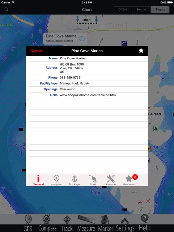 Oklahoma lakes GPS Charts Pro screenshot-3