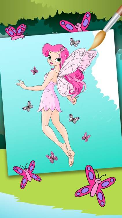 Fairy Coloring Book – Color and Paint Drawings of Fairies Educational Game for Kids Premium screenshot-4