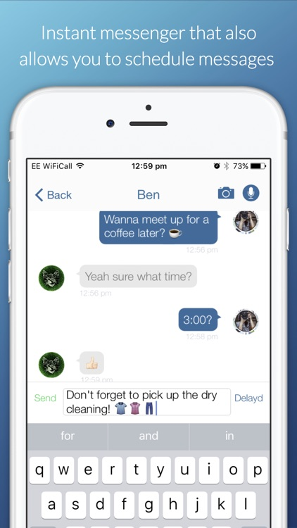 Delayd: Schedule Messages to Send in the Future screenshot-0