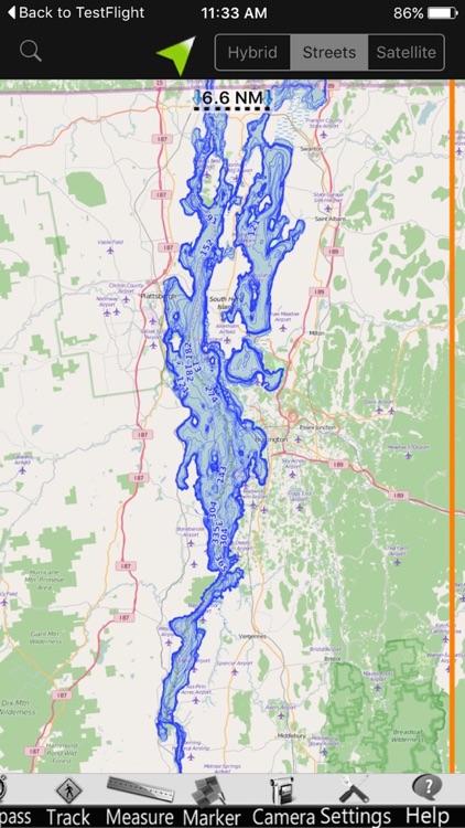 Lake Champlain GPS Nautical charts screenshot-4