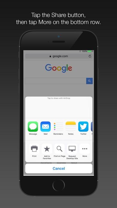Font Size App Extension screenshot1