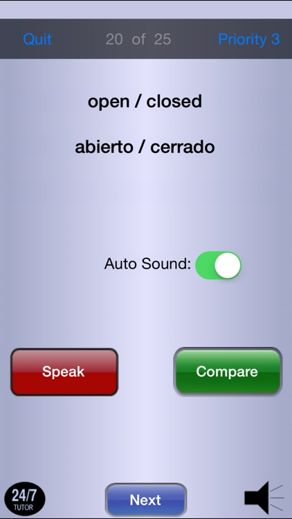 Spanish Vocabulary 24/7 Language Learning screenshot-4