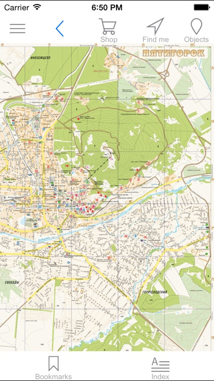 Pyatigorsk. Tourist map