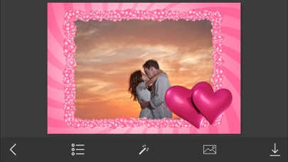 Pink Heart Photo Frame - Make Awesome Photo using beautiful