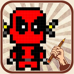 Art of Draw Pixel Superheroes Version