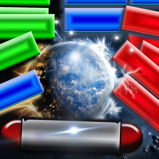 A War Word Bricks - Ball Blast Action Breaker Game