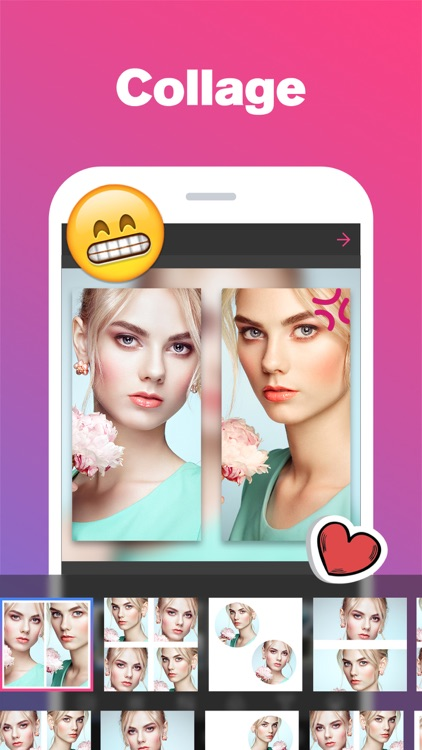 Quick Grid - Picture Collage & Beauty Poster Magazine & Photo Editor with Nice Layout and Funny Filters screenshot-3