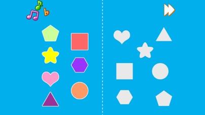Kids Shapes - Kids worksheet matching shapes and shadows screenshot one