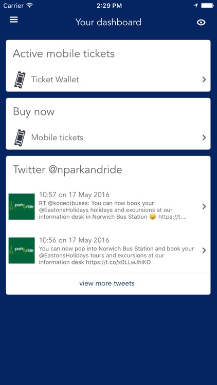 Konectbus and Norwich Park & Ride, mobile tickets