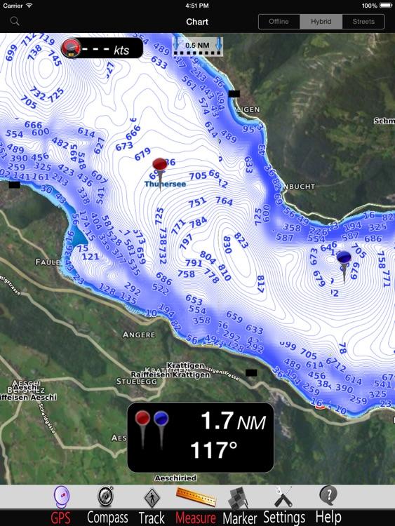 Thun - Brienz Lakes Charts Pro