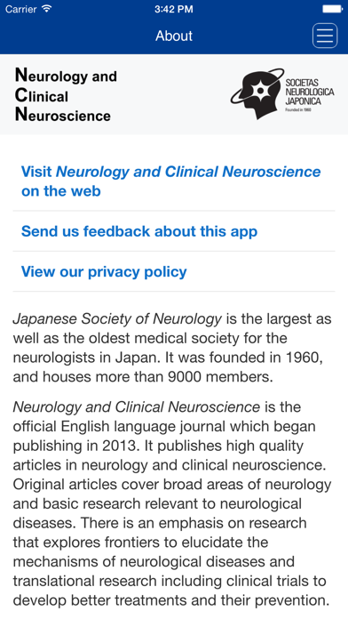 Neurology and Clinical Neuroscience screenshot three