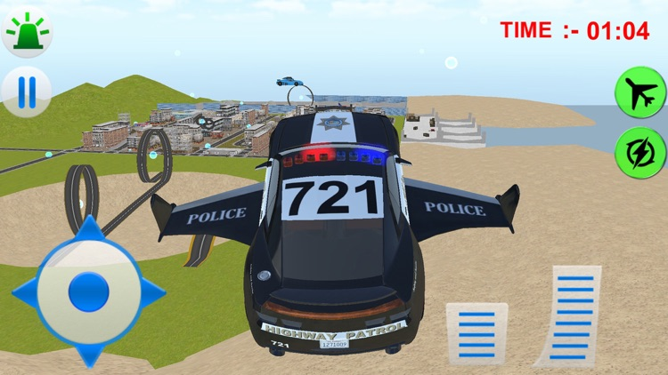 Flying Police Car Simulator 3d games