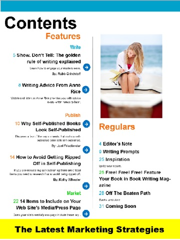 Скриншот из Book Writing Magazine