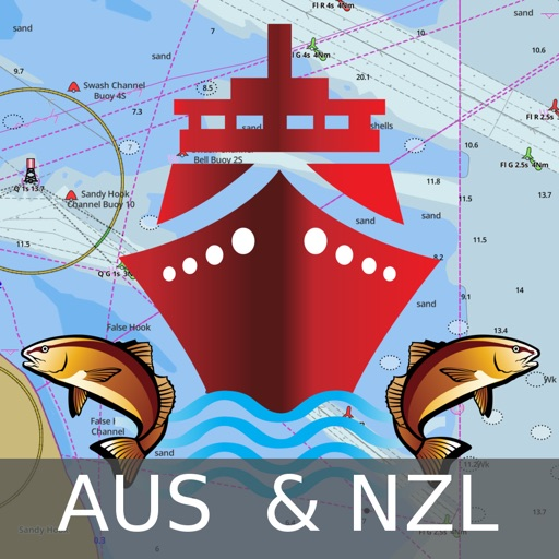 i-Boating:Australia & New Zealand - Gps Marine/Nautical Charts & Navigation Maps