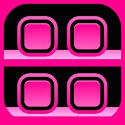 Pink Icons Screen Builder- Design Wallpapers with Custom Backgrounds, Frames, Shelves & Docks