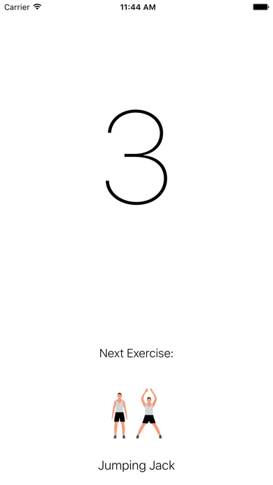 Seven Minute Workout Exercise Screenshot on iOS