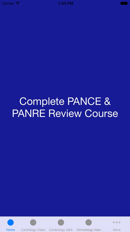 Complete PANCE/PANRE Review Course (Video Lecture and Questions) screenshot-0