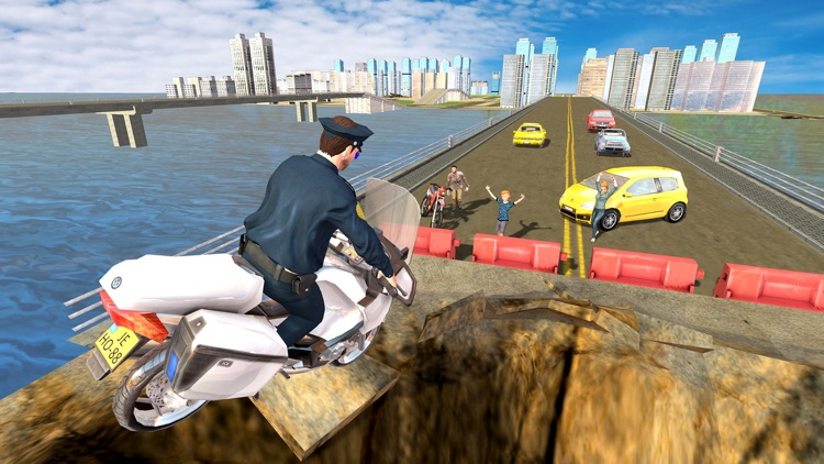 Flying Police Bike Rider 2016 - Ride & Fly Motorcyle in the City To be a Best Traffic police screenshot-4
