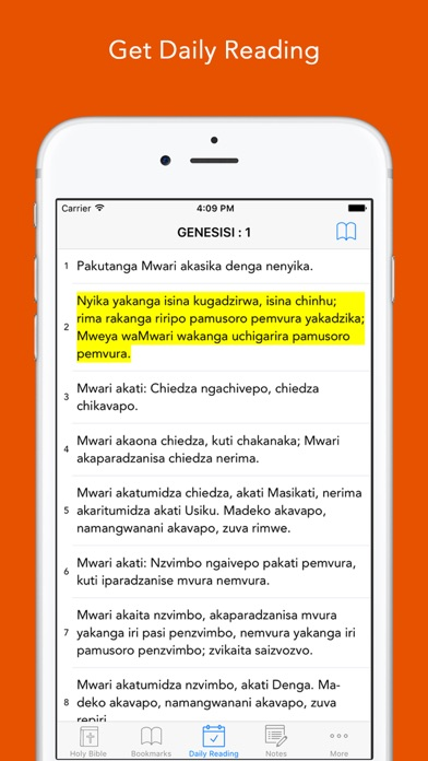 Shona Bible : Easy to use Bible app in Shona for daily offline Bible book reading screenshot two