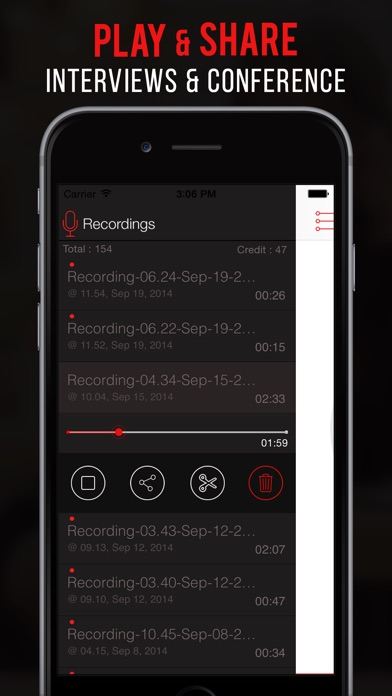 Screenshot for Callcorder Pro: call recorder in Pakistan App Store