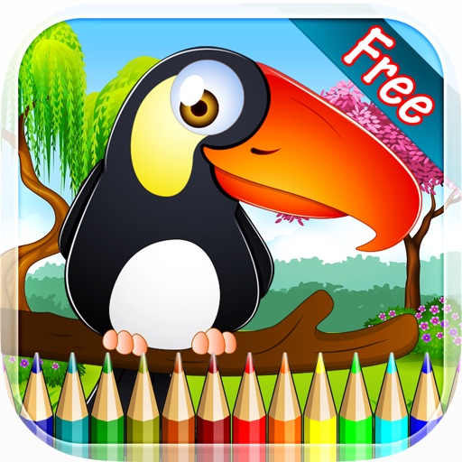 Birds Coloring Book - Drawing and Painting Colorful for kids games free