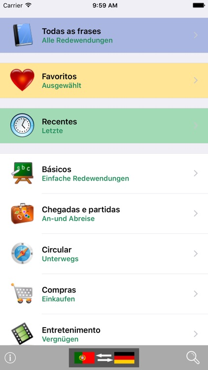 Portuguese / German Talking Phrasebook Translator Dictionary - Multiphrasebook screenshot-0