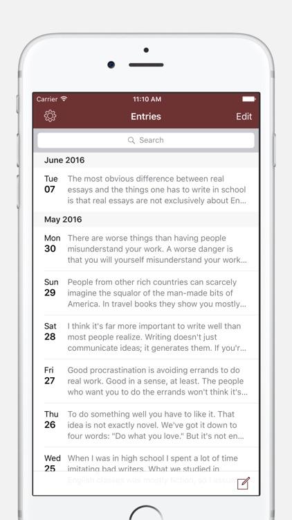 Chronicle - A Personal Journal / Writing Diary screenshot-0