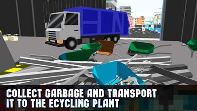 Pixel City Garbage Truck Driver 3D Full screenshot two