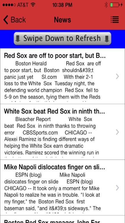 Boston Baseball - a Red Sox News App