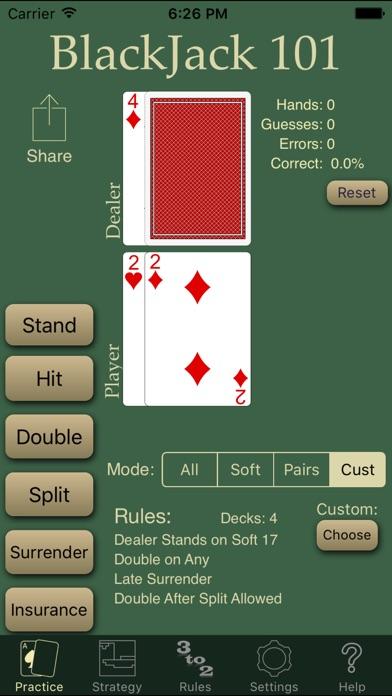 Blackjack 101 Pro review screenshots