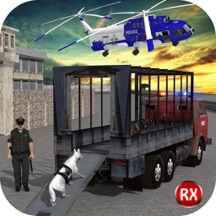 Police Dog Transport via Police Transporter Train, Truck & Helicopter