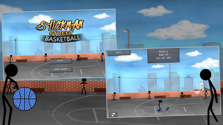 Stickman Street Basketball screenshot-4