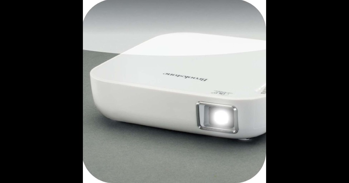 Brookstone wireless mobile projector app on the app store for Proyector apple