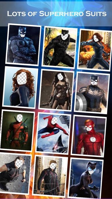 スーパーヒーローの顔チェンジャー2 - スーパーヒーローSuiteとのフェイススワップアプリ&面白い写真編集のスクリーンショット2