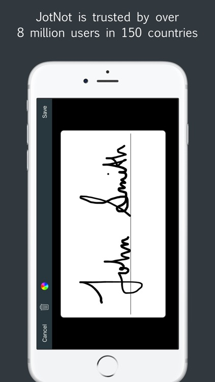 Sign by JotNot - fill and sign PDF form or sign PDF document
