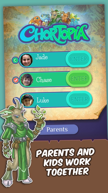 Chortopia Chore App: Reward Kids with Story, Collectibles, and Games screenshot-0